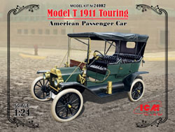 ICM MODELS MODEL T 1910 TOURING 1:24, LIST PRICE $49.99