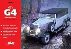 ICM MODELS G4 WW-II GER PERSONNEL CAR :24, LIST PRICE $59.99