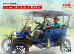 ICM MODELS American Motorists 1910's 1:24, LIST PRICE $18.99
