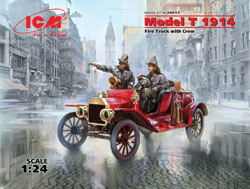 ICM MODELS Model T 1914 Fire Trk w/crw:24, LIST PRICE $54.99