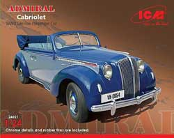 ICM MODELS ADMIRAL CABRIOLET 1:24, LIST PRICE $59.99