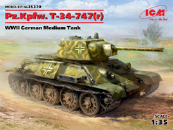 ICM MODELS WWII PzKpfw T-34-747Med Tnk:35, LIST PRICE $54.99