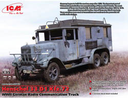 ICM MODELS German Radio Com Truck Ww2 :35, LIST PRICE $56.95