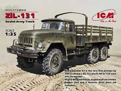 ICM MODELS ZIL-131 SOVIET ARMY TRUCK 1:35, LIST PRICE $51.99