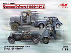 ICM MODELS WWII German Drivers 1939-45:35, LIST PRICE $16.99