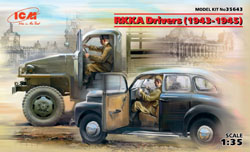 ICM MODELS WWII Soviet Army Drivrs'43-'45, LIST PRICE $13.99