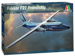 "ITALERI 1:72 Fokker F-27-400 ""Friendship""  , DUE 6/30/2019, LIST PRICE $58.99"