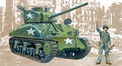 ITALERI M4-A1 SHERMAN 1:35            , LIST PRICE $42