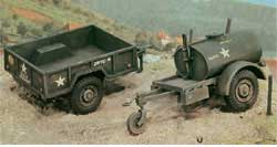 ITALERI 250Gal Tank Trailer & M109 :35, LIST PRICE $19.5