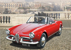 ITALERI 1:24 Alfa Romeo Giulietta Spider 1300 , DUE 5/30/2019, LIST PRICE $47