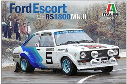 ITALERI Ford Escort RS1800 MKII 1:24, LIST PRICE $44.99