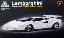 ITALERI Lamborghini Countach 5000 1:24, LIST PRICE $40.99