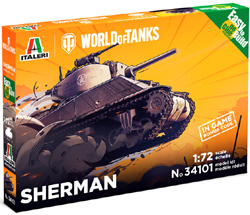 ITALERI 1:35 WOT M4 SHERMAN , LIST PRICE $43.99