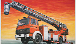 ITALERI FIRE LADDER tr DLK 23-12 1:24 , LIST PRICE $77