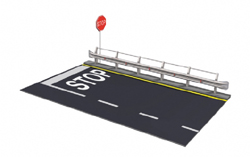 ITALERI Guard Rail & Road Section 1:24, LIST PRICE $33.5