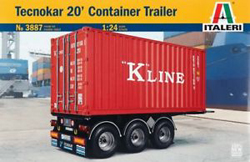 ITALERI 20 Foot Container Trailer 1:24, LIST PRICE $69.99