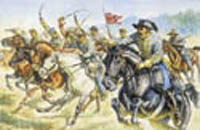 ITALERI ACW CONFEDERATE CAVALRY 1:72  , LIST PRICE $15.5