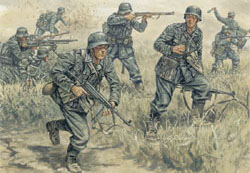 ITALERI GERMAN INFANTRY WW-II 1:72    , LIST PRICE $15.5