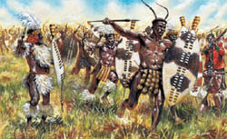 ITALERI ZULU WAR ZULU WARRIORS 1:72   , LIST PRICE $12.5