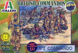 ITALERI BRITISH COMMANDOS WW-II 1:72  , LIST PRICE $15.5