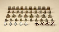 ITALERI ANTITANK OBSTACLES 1:72 , LIST PRICE $16.5