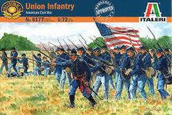 ITALERI Amer Civil War Union Inf 1:72, LIST PRICE $14.99