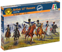 ITALERI British 11th Hussars Soldrs:72, LIST PRICE $14.99
