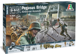ITALERI 1:72 Battle Set Pegasus Bridge  D-Day 75th Anniversary  , LIST PRICE $115.99