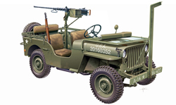 ITALERI 1/4Ton 4X4 Truck Jeep 1:24, LIST PRICE $48