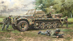 ITALERI 1:35 Sd. Kfz. 10 Demag D7 with German Paratroopers , DUE 5/30/2019, LIST PRICE $43.5