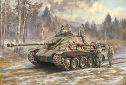 ITALERI 1:35 SD.KFZ.173 JAGDPANTHER WITH WINTER CREW , LIST PRICE $57.99