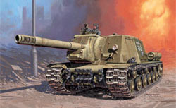 ITALERI ISU 152 SOVIET SP GUN 1:72    , LIST PRICE $18.5