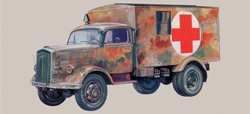 ITALERI Kfz.305 AMBULANCE 1:72        , LIST PRICE $19