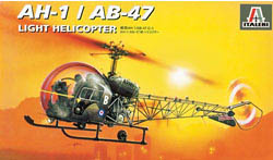 ITALERI OH-13/AB-47 HELICOPTER 1:72   , LIST PRICE $17
