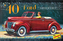 Lindberg  J Lloyd '40 FORD CONVERTIBLE 1:32, LIST PRICE $12.25