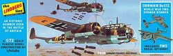Lindberg  J Lloyd 1/72 Dornier Do17Z German Bomber, LIST PRICE $18.49