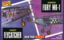 Lindberg  J Lloyd Fairey Flycatcher/Hawker Fury 2PK, LIST PRICE $26.99