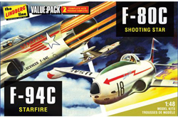 Lindberg  J Lloyd F-80C + F-84C Twin Pac 1:48, LIST PRICE $30