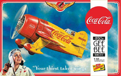 Lindberg  J Lloyd Coca Cola Gee Bee Racer, LIST PRICE $24.99