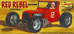 Lindberg  J Lloyd Red Rebel Racer 1:24, LIST PRICE $22.5