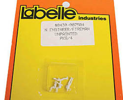 Labelle N 2-ENG. & 2 FIREMAN UNPAINTED, LIST PRICE $9.49
