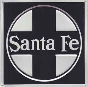 Micro Scale Die-Cut Metal Sign  ATSF, LIST PRICE $14.5