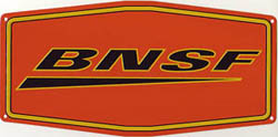 Micro Scale Die-Cut Metal Sign BNSF, LIST PRICE $14.5
