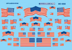 Micro Scale HO US Flags, 50-Star 1960+, LIST PRICE $4.5