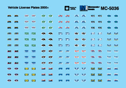Micro Scale HO Vehicle License Plates 2000+, LIST PRICE $5.25