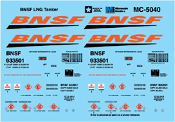 Micro Scale HO BNSF LNG Tanker, LIST PRICE $5