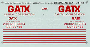 Micro Scale HO GATX EX-UP SD-40-2's, LIST PRICE $5
