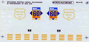 Micro Scale HO WC MR 60th Anniversary, LIST PRICE $5.25