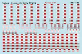 Micro Scale HO Trailer safety striping, LIST PRICE $5.25
