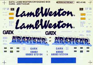 Micro Scale HO GATX Lam Weston cryo cars, LIST PRICE $5